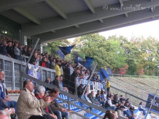 BSC : SVW - Waldhof Fans hinter Ultras Fahne